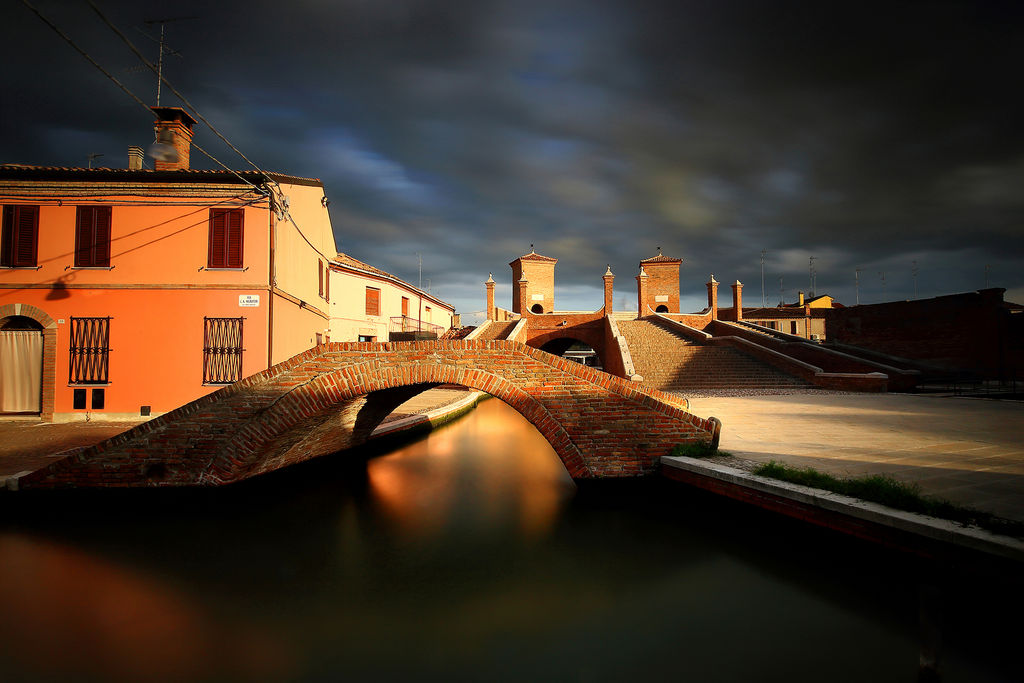 Comacchio village, here with the Trepponti bridge and canals